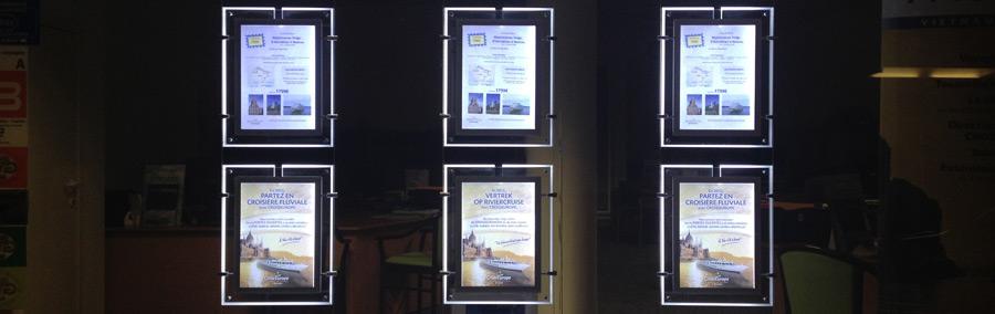 Agences immobili res portes affiches atelier enseignes - Cadre lumineux lettre ...