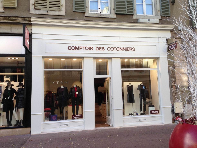 Comptoir des cotonniers colmar atelier enseignes - Au comptoir des cotonniers ...