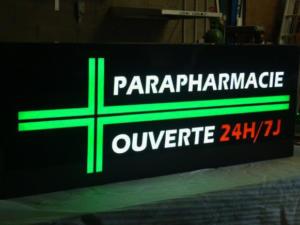 Atelier-Enseignes-Caisson-Parapharmacie-lumineux-leds-Epinal-88